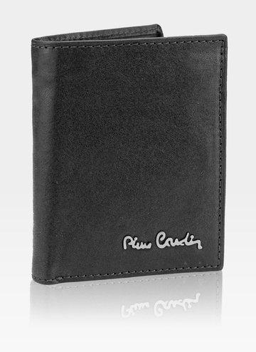 Skórzany portfel męski Pionowy Pierre Cardin Tilak51 1812 RFID Czarny