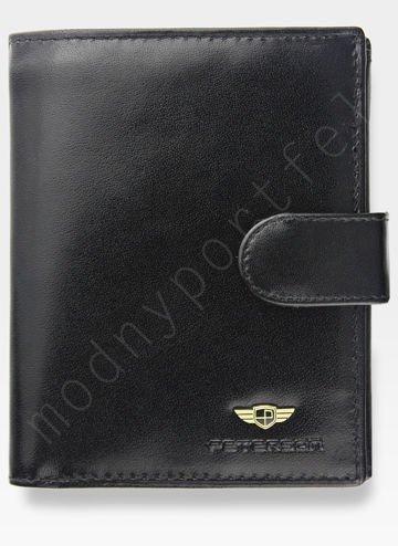 Bezpieczny Portfel Męski Skórzany Klasyczny Czarny Zapinany RFID STOP 342Z