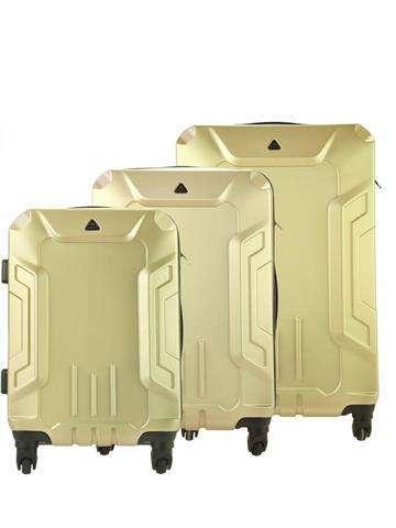 Komplet walizek 3 w 1 A4 Jemis BS195# champagne