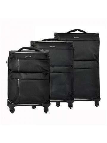 Komplet walizek 3 w 1 A4 Pierre Cardin DAVID03 SH-6907 x3 Z czarny