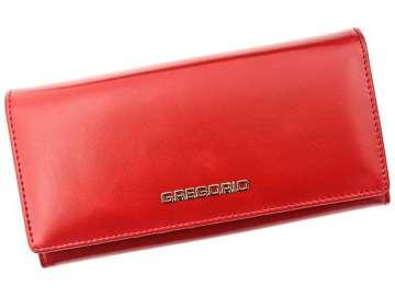 Portfel Damski Skórzany Gregorio N102 czerwony Skóra Naturalna