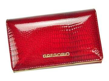 Portfel Damski Skórzany Gregorio SLL-101 czerwony Skóra Naturalna Lakierowana