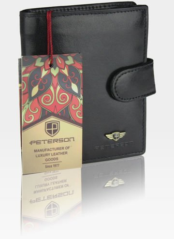 Portfel Męski Skórzany Skóra Naturalna PETERSON RFID