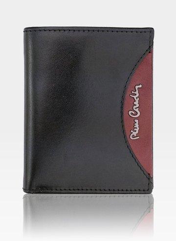 Portfel Skórzany Męski Pierre Cardin Banknotówka Tilak29 1810 RFID Czarny/Czerwony