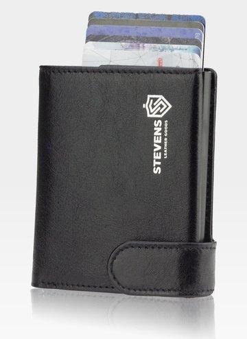 STEVENS Etui na Karty Automatyczne Aluminiowe Mały Portfel Slim RFID STOP HIT NOWOŚĆ