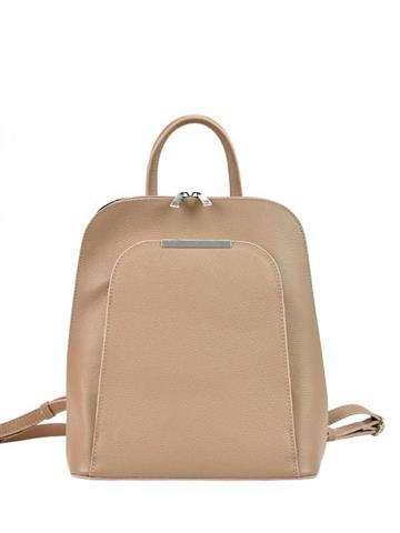 Skórzany plecak damski A4 Patrizia Piu 519-001 ciemny róż