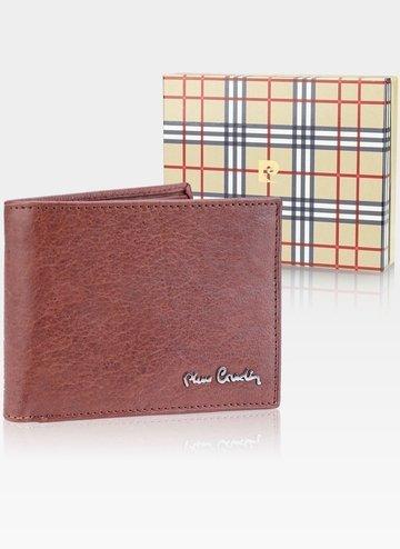 Skórzany portfel męski Pierre Cardin Tilak50 8806 RFID Cognac