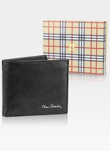 Skórzany portfel męski Pierre Cardin Tilak50 8824 RFID nero