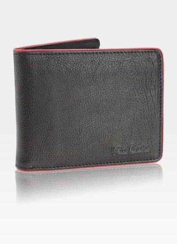 Skórzany portfel męski Pierre Cardin Tumble 8824 RFID Black+red