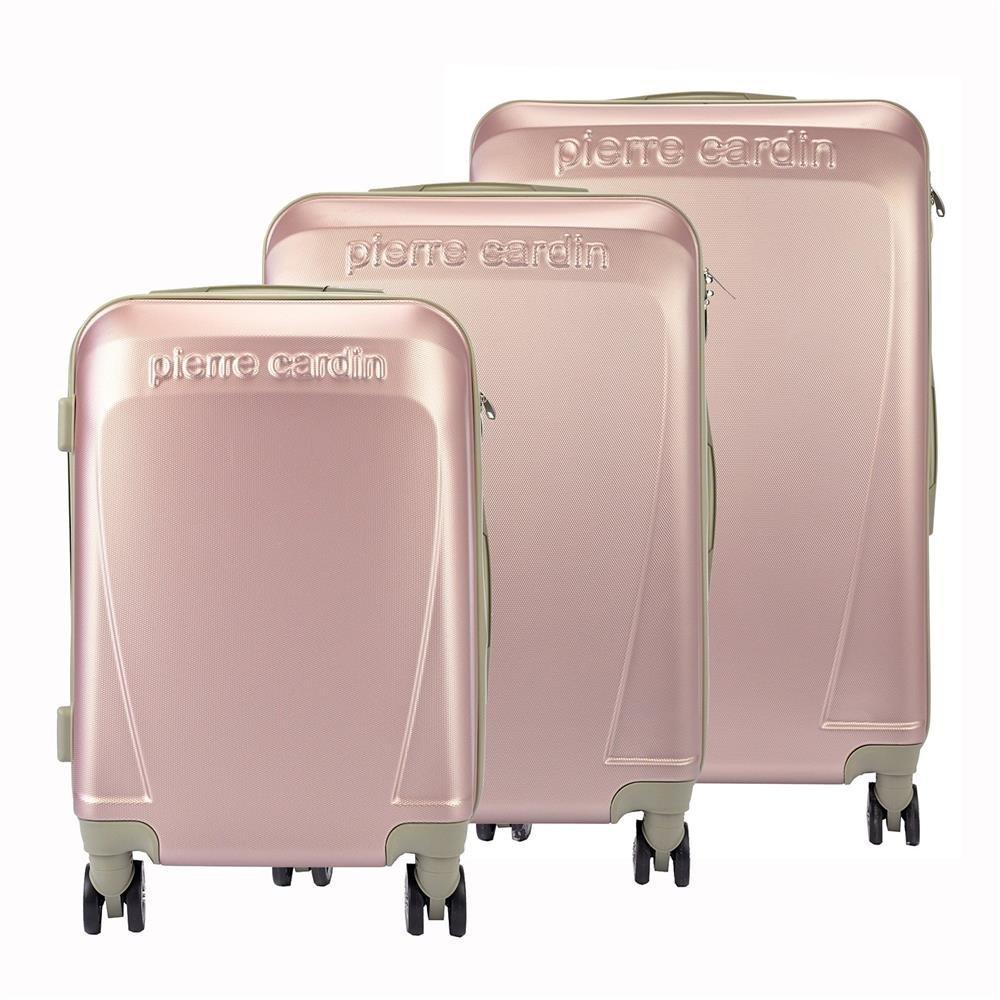 ee74ae110de04 Komplet walizek 3w1 Pierre Cardin ABS1256 RUIAN10 x3 Z różowy Kliknij, aby  powiększyć ...