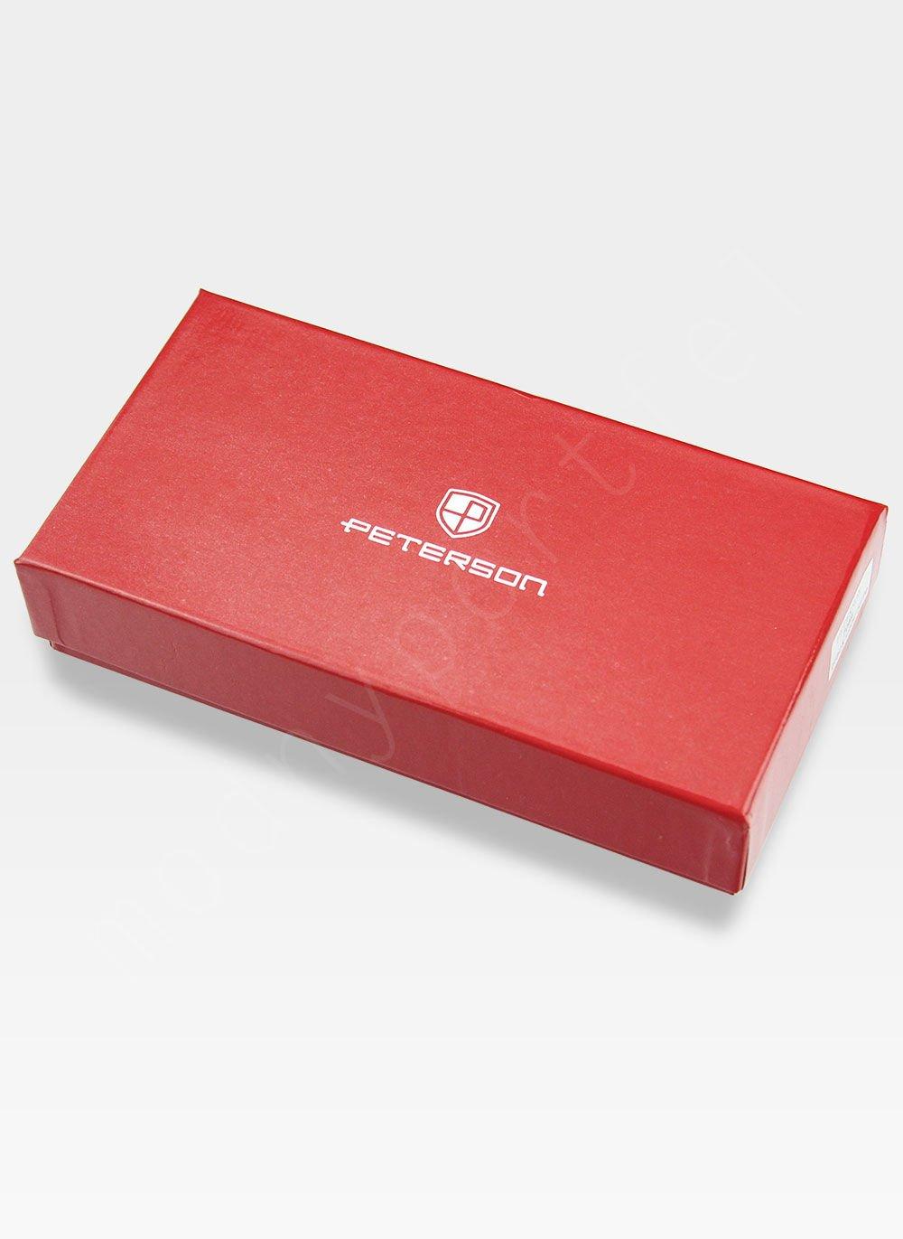 1046f96257a64 Portfel Damski Skórzany PETERSON Pikowany 605 Czerwony 605 12-3-9 ...