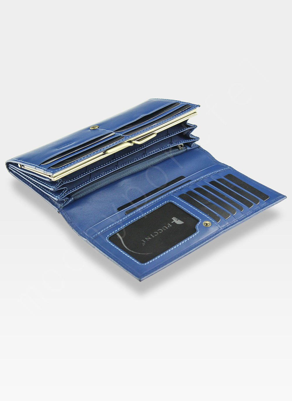 700c9e3b08c46 ... Portfel Damski Skórzany PUCCINI Rozbudowany Niebieskie 1705P Kliknij