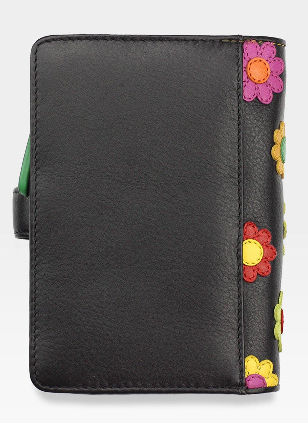 087e6f85c99f8 Visconti Portfel Damski Skórzany w Kwiatki Daisy DS82 Czarny DS82 ...