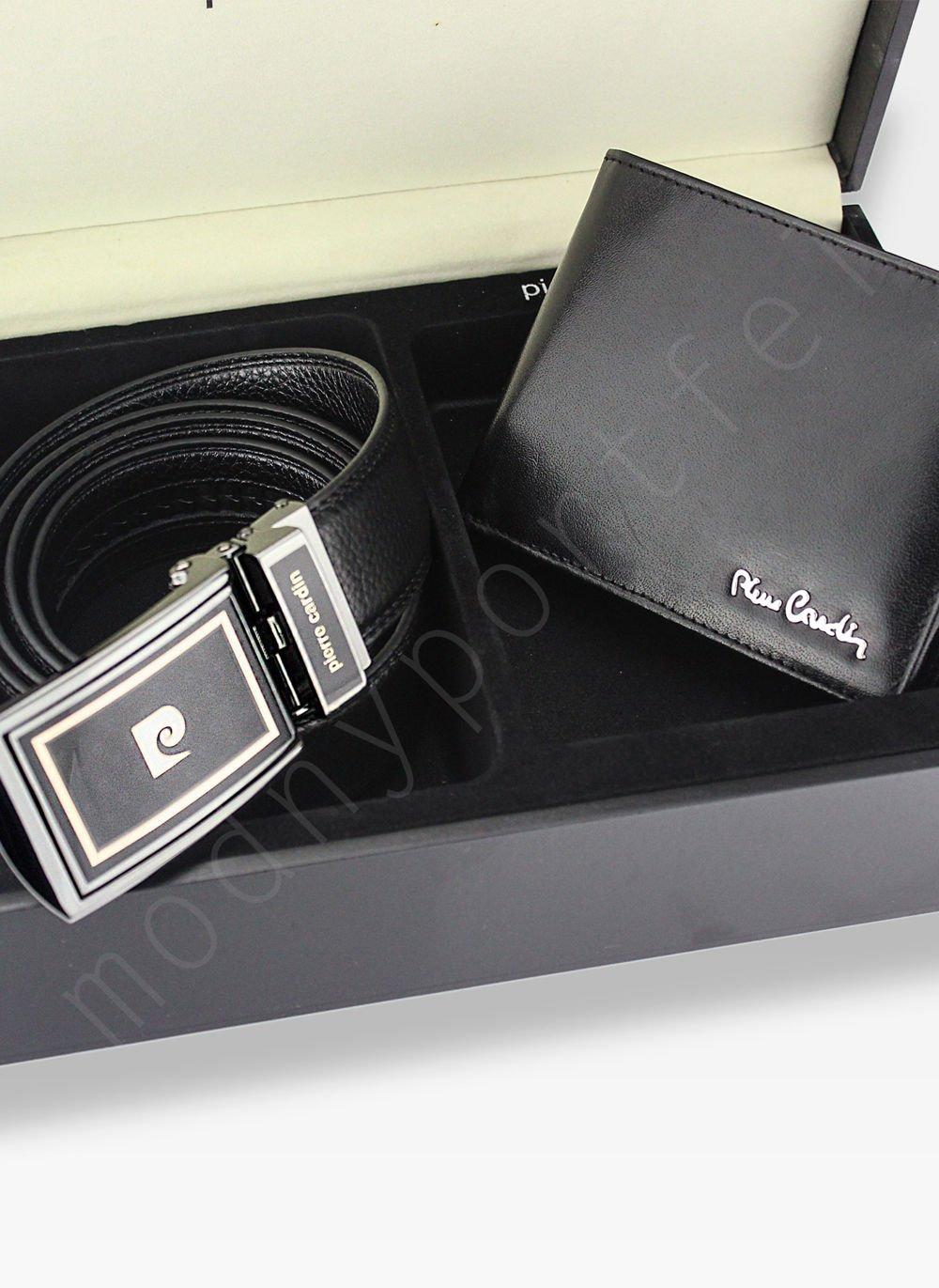 2b79eb9f433c5 Zestaw Prezentowy Pierre Cardin Pasek i Portfel w drewnianym pudełku ...