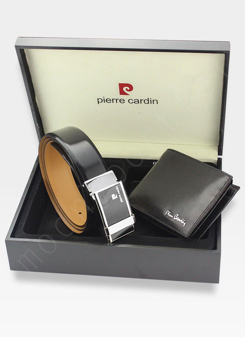 9611592490831 Zestaw Prezentowy Pierre Cardin Pasek i Portfel w drewnianym pudełku na  prezent 8806 Kliknij