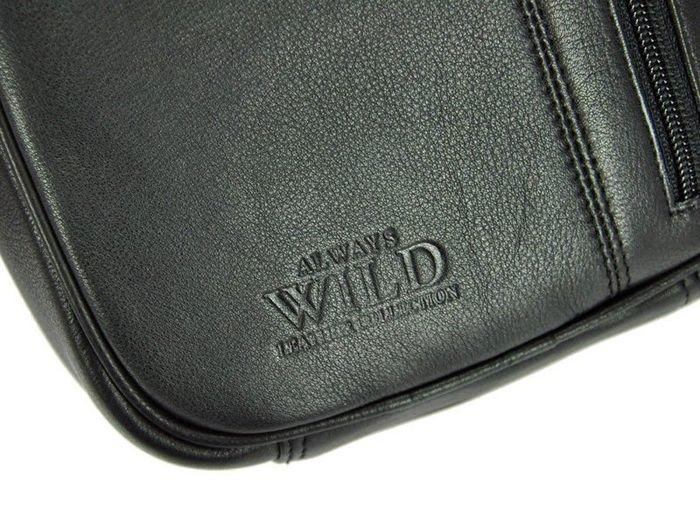 Saszetka Męska Skórzana  Wild 8023-NDM czarna