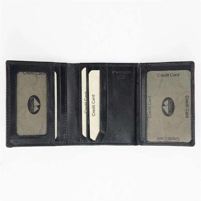 Cienkie etui męski skórzane EL FORREST 854-62 RFID czarny + czerwony