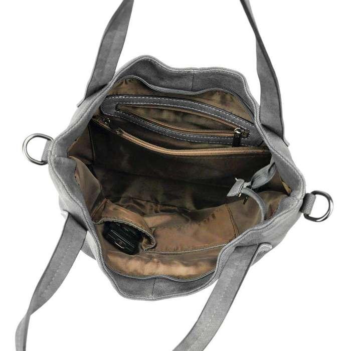 Damska Torebka ekologiczna A4 Gregorio TB-68R ciemny beż