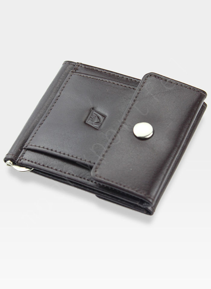 Dolarówka Portfel Męski A-Art Elegancki Klasyczny 4108/54bk Brązowy