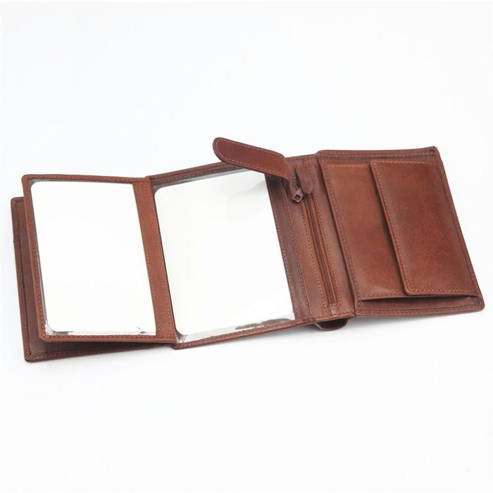 Elegancki Portfel męski skórzany EL FORREST G-11-26 brązowy