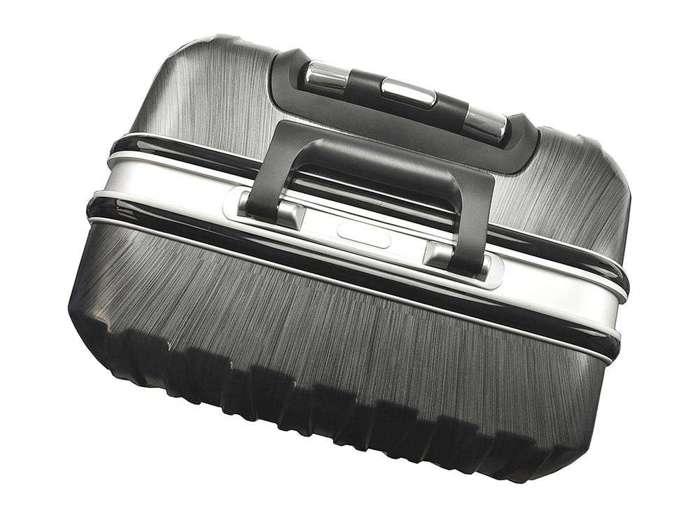 Komplet walizek 2w1 A4 Ormi PC016 ciemny srebrny
