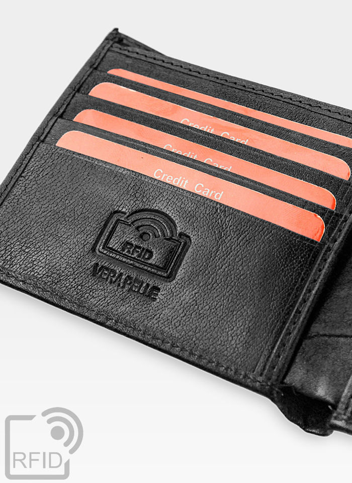 Mały I Cienki  Portfel Męski PIERRE CARDIN Skórzany Tilak12 8824 RFID