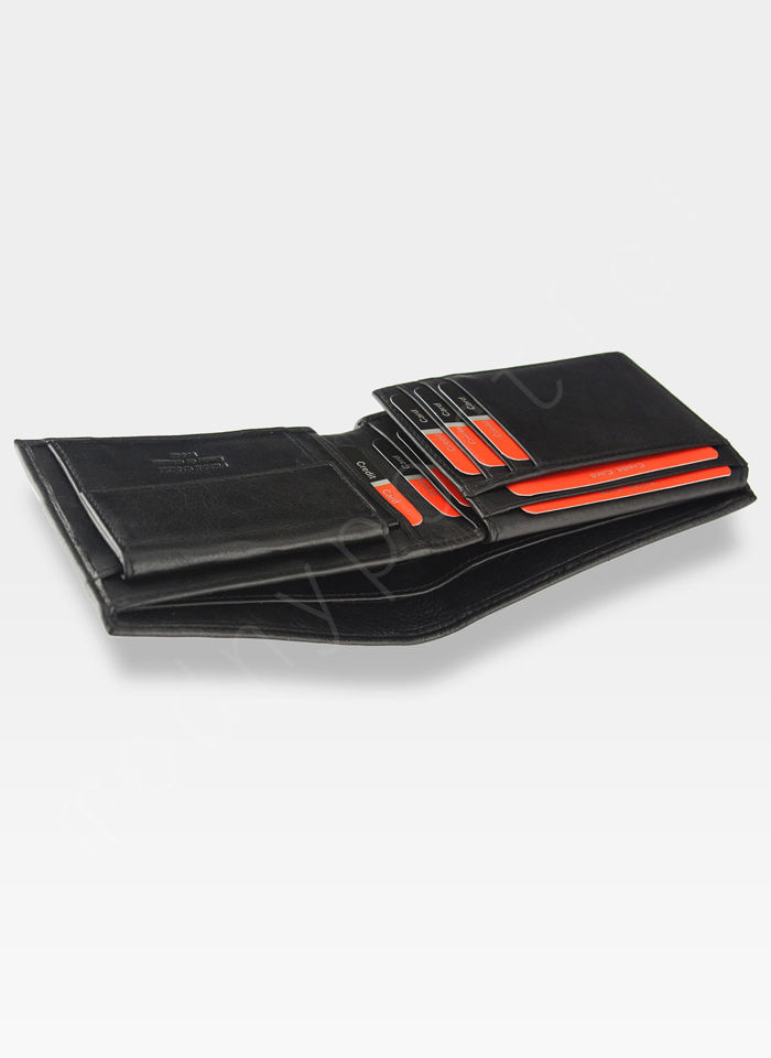 Modny Portfel Męski Pierre Cardin Oryginalny Skórzany Tilak25 8806 Czarny RFID