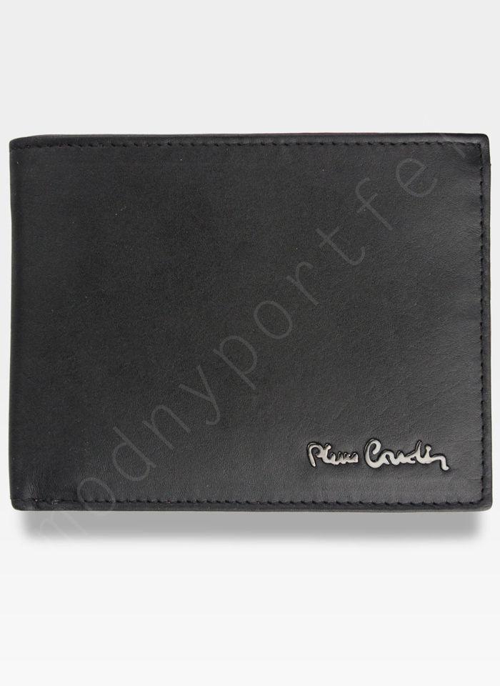 Modny Portfel Męski Pierre Cardin Oryginalny Skórzany Tilak27 8806 Czarny + Bordowy RFID