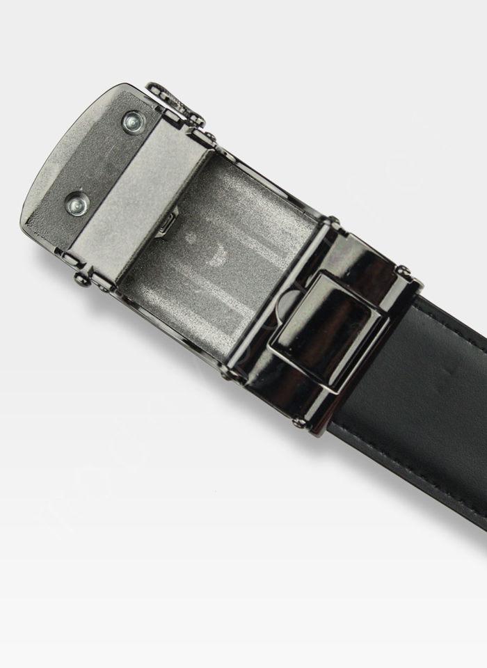 Pasek Skórzany Męski PIERRE CARDIN Czarny Metalowa Klamra Automatyczna 524