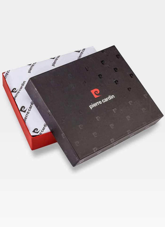 Pierre Cardin Portfel Męski Skórzany Poziomy Czarny YS520.1 8806 RFID