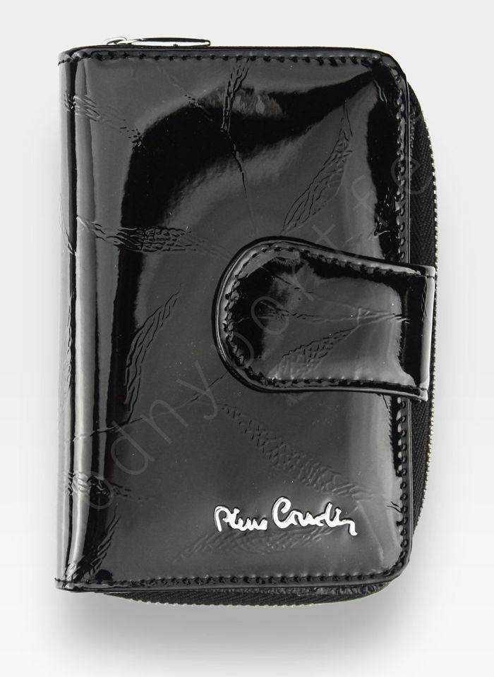 Portfel Damski Pierre Cardin Skórzany Czarny w Liście 115