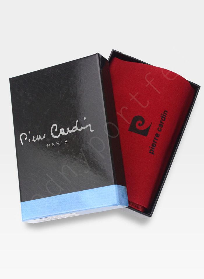 Portfel Damski Pierre Cardin Skórzany Czerwony w Liście 04 Plant 117