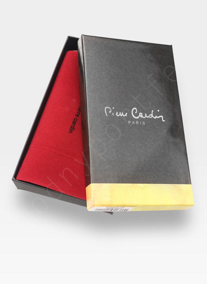 Portfel Damski Pierre Cardin Skórzany Duży Podwójny Suwak Czarny Linia Coco 118