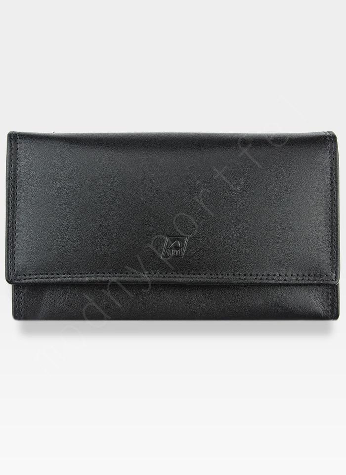 Portfel Damski Skórzany A-Art Elegancki Klasyczny Bigiel 3498/hlw29 Czarny