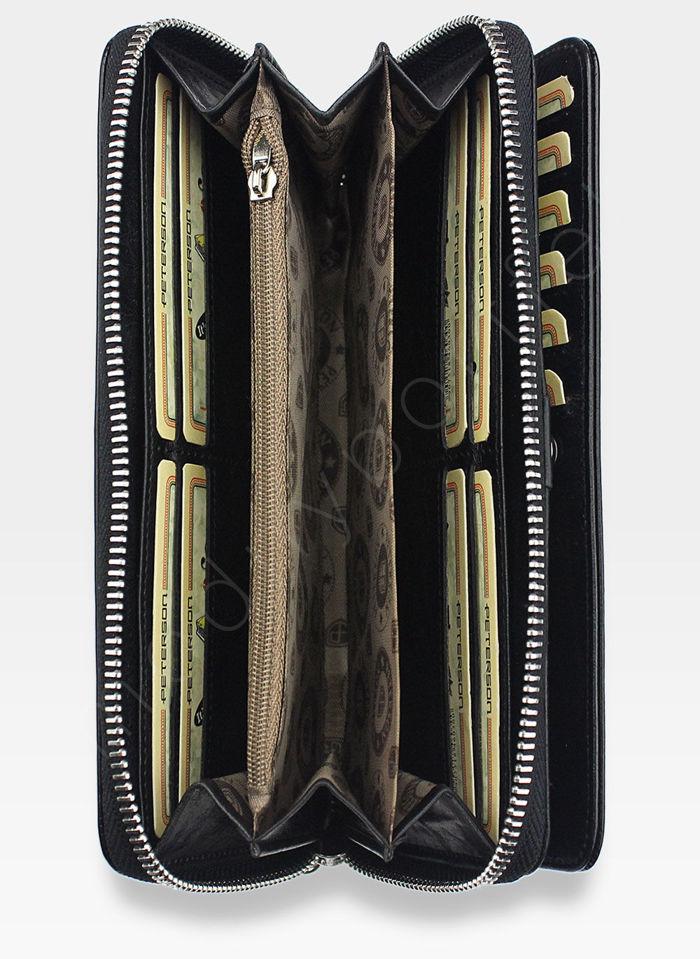 Portfel Damski Skórzany PETERSON 496 Czarny
