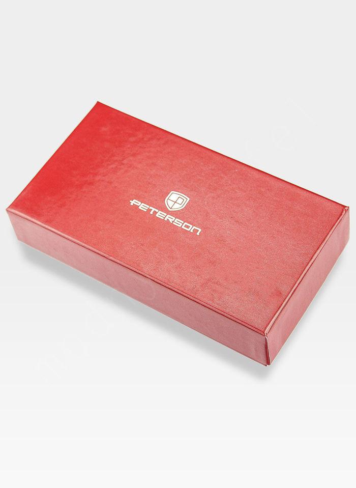 Portfel Damski Skórzany PETERSON 780 Czerwony Skóra Licowa