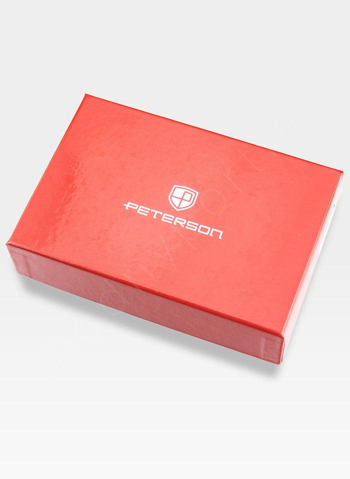 Portfel Damski Skórzany PETERSON Lakierowany 602 Czerwony