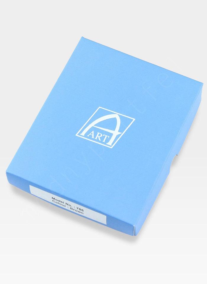 Portfel Męski A-Art Elegancki Klasyczny 3347 Brązowy RFID