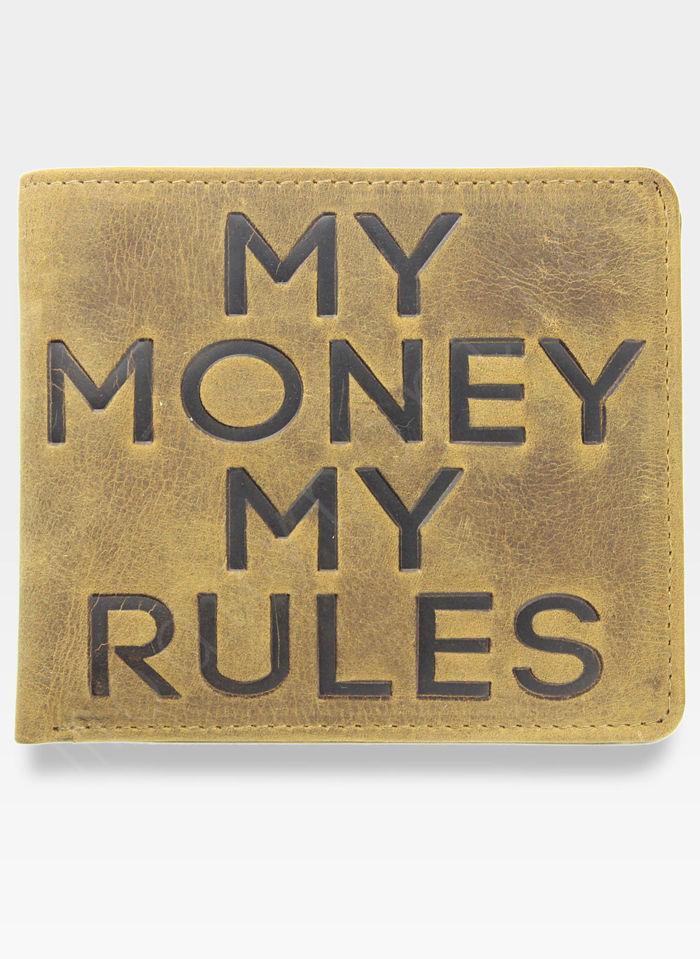 Portfel Męski Mustard MY MONEY MY RULES Slim Na prezent
