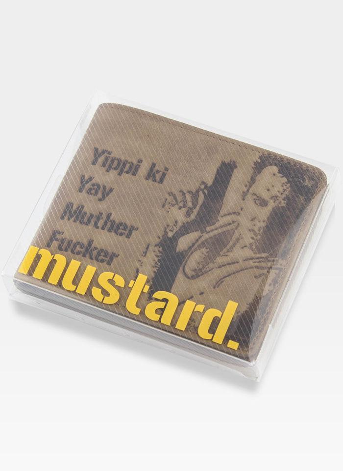Portfel Męski Mustard Skórzany Motyw z Szklana Pułapka (mclane)