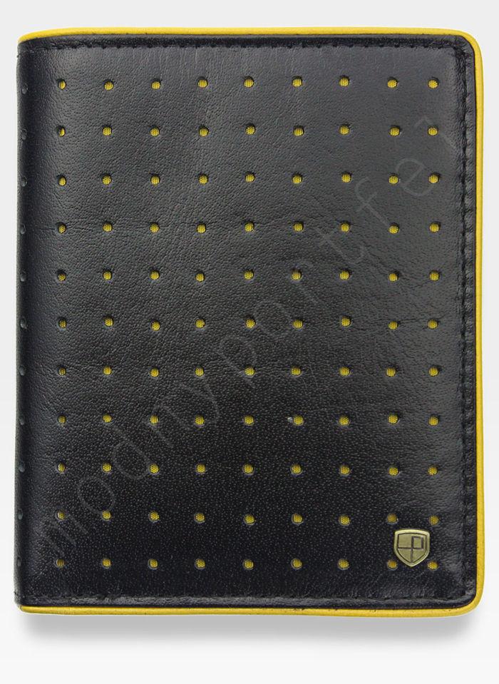 Portfel Męski Peterson Skórzany 302 Żółte Dziurki