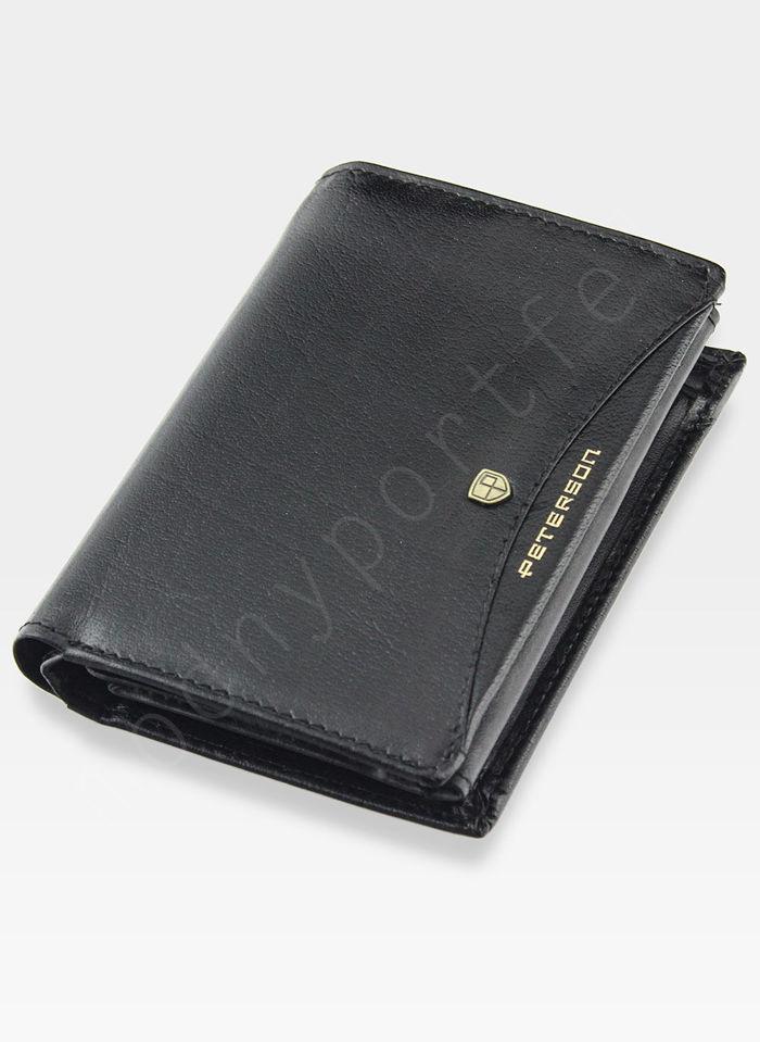 Portfel Męski Peterson Skórzany 324.01 Czarny