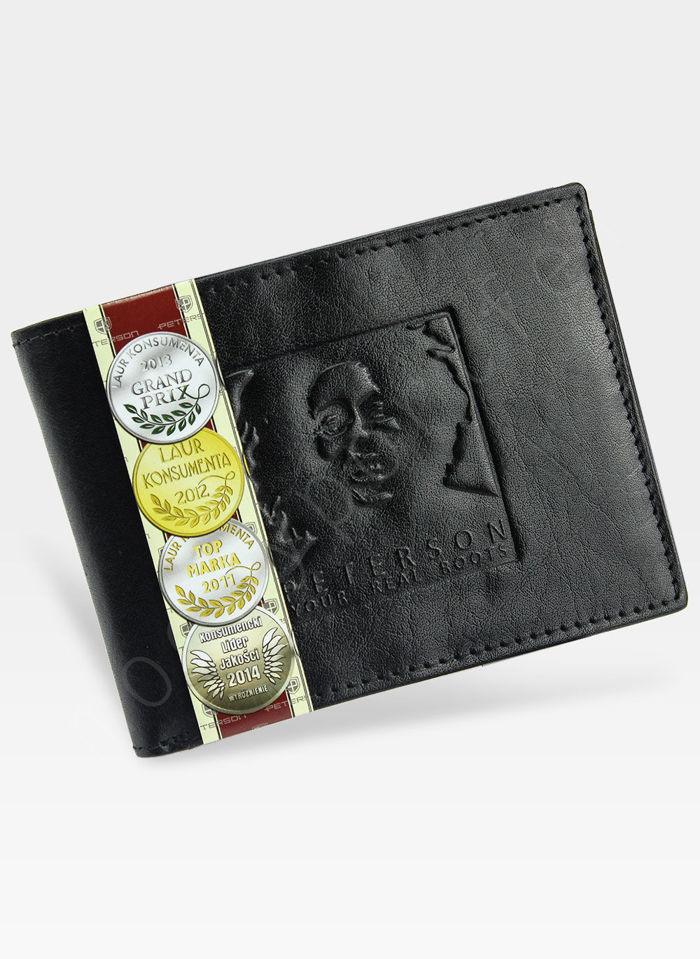 Portfel Męski Peterson Skórzany Bob Marley 364 Czarny