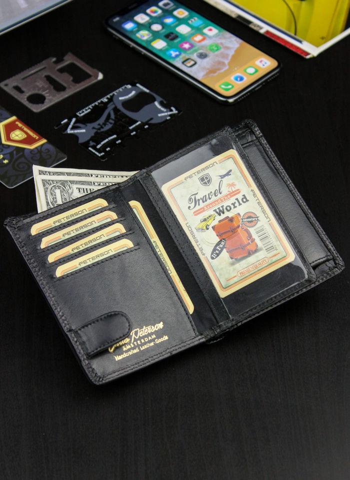 Portfel Męski Peterson Skórzany System RFID Stop 324 Czarny