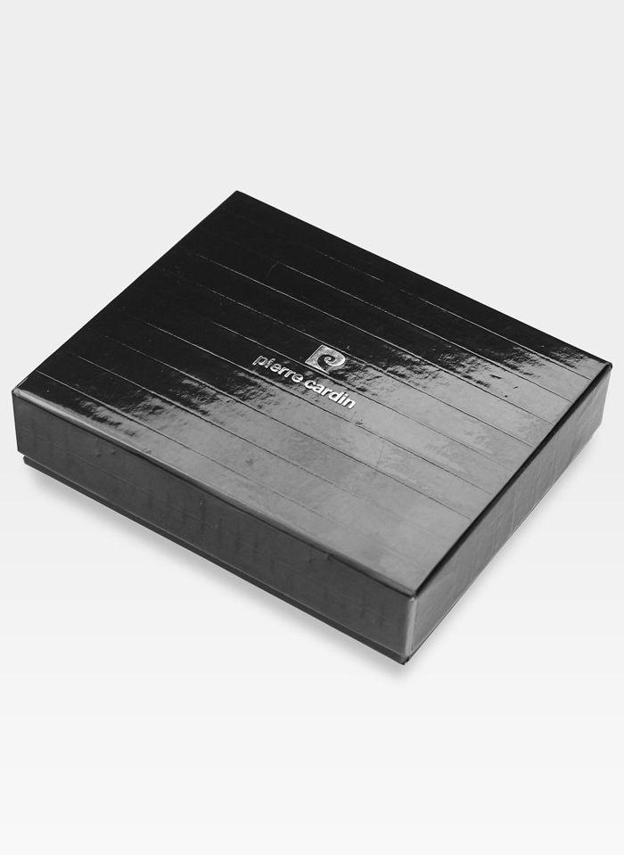 Portfel Męski Pierre Cardin Skórzany Klasyczny Brązowy Poziomy 324