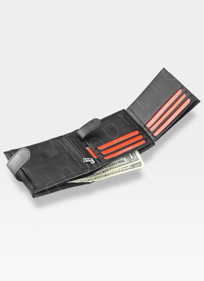 Portfel Męski Pierre Cardin Skórzany Klasyczny Poziomy Zapinany Tilak22 324 RFID