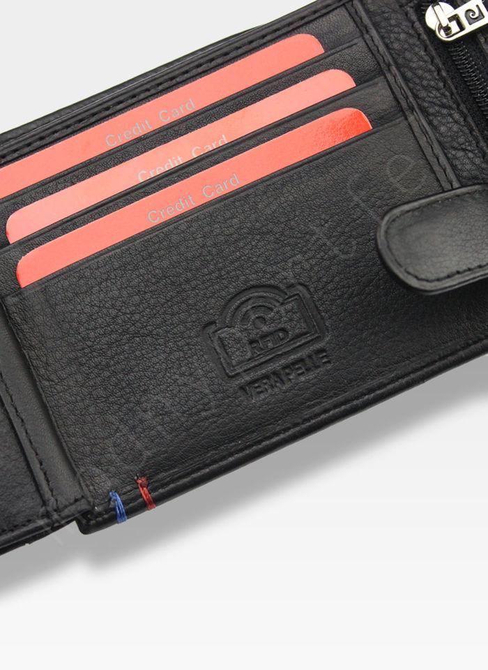 Portfel Męski Pierre Cardin Skórzany Klasyczny Poziomy Zapinany Tilak25 324 RFID