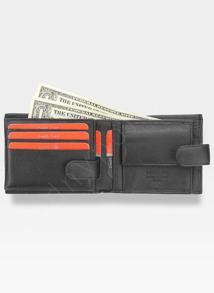 Portfel Męski Pierre Cardin Skórzany Klasyczny Zapinany Tilak15 323A Sahara RFID