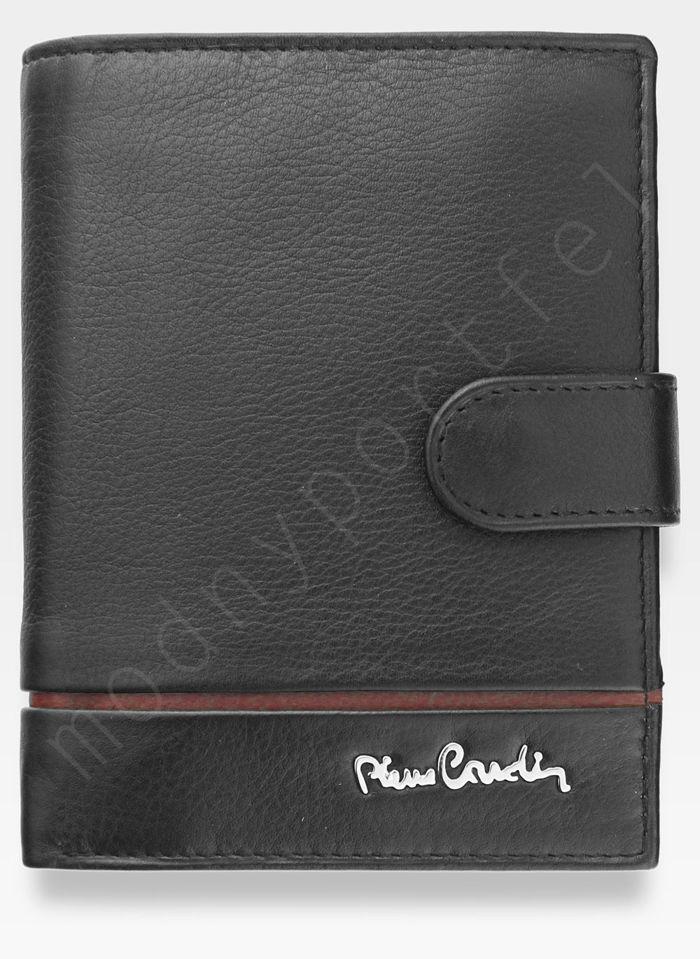 Portfel Męski Pierre Cardin Skórzany Zapinany Pionowy Czarny Tilak15 331A Sahara RFID