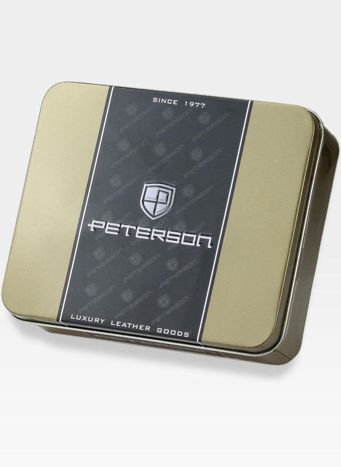 SKÓRZANY PORTFEL MĘSKI PETERSON TIR ŁAŃCUCH
